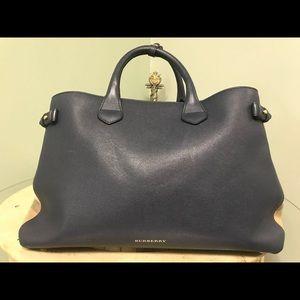 Authentic Burberry leather large handbag